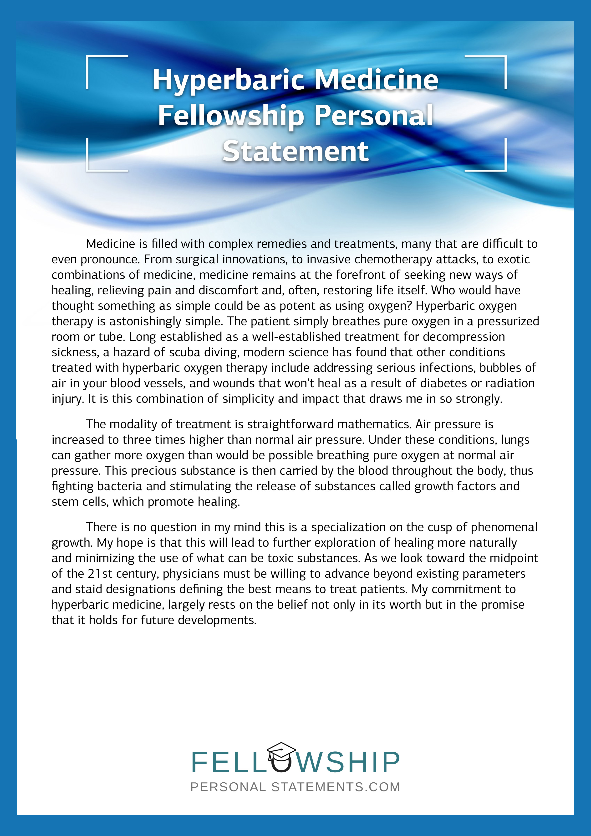 Geriatric Fellowship Personal Statement - Resume Examples