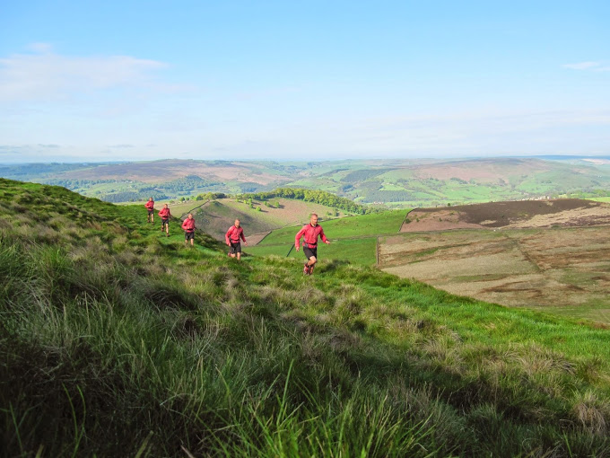 Running above the Hope Valley