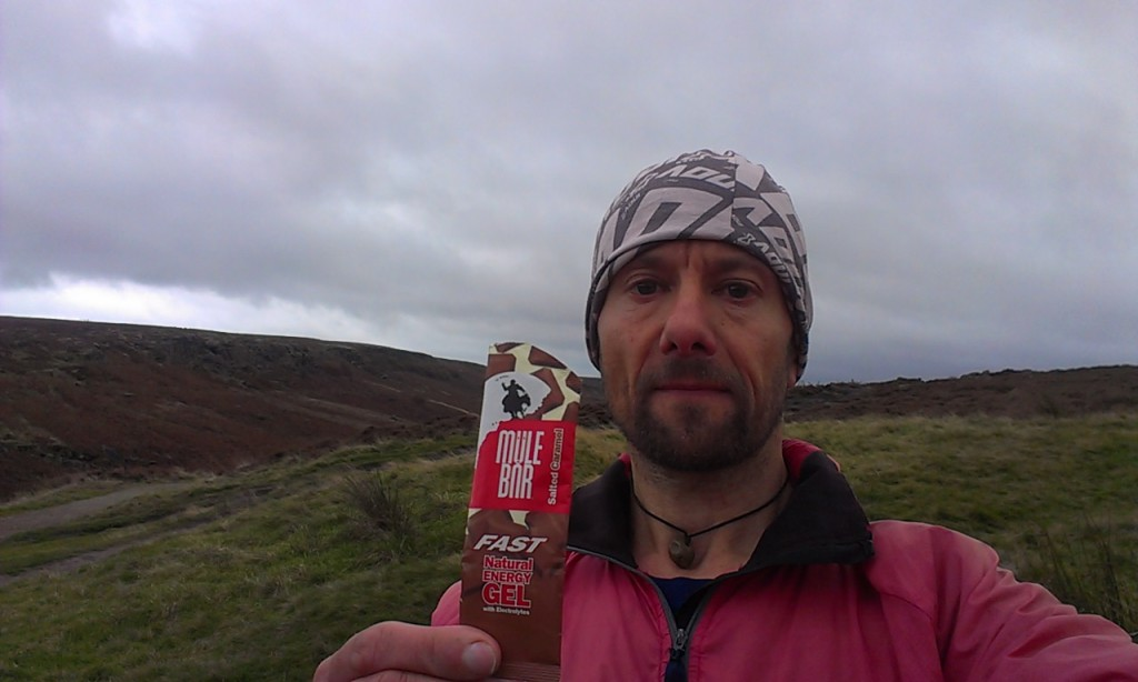 fell running with energy gel