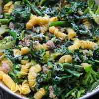 Sausage, Vegetable and Pine Nut Pasta