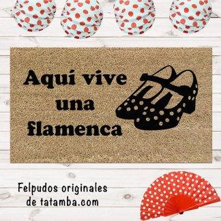 Felpudo Zapatos Flamenca