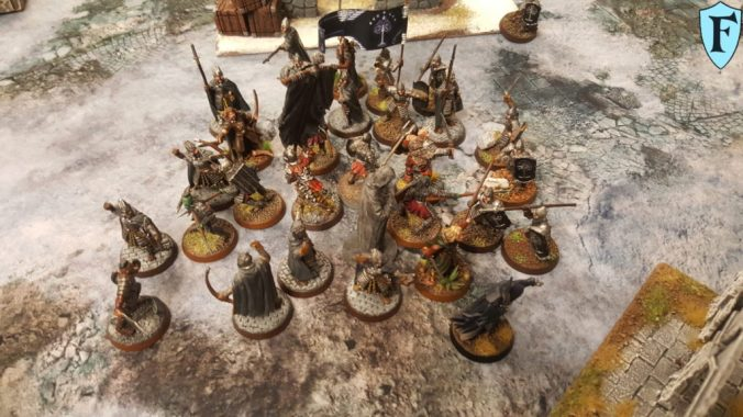 Kampf zwischen Gondors Truppen und Mordors Schergen
