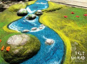 Feltnomad Meadow Creek Felted Playmat 1