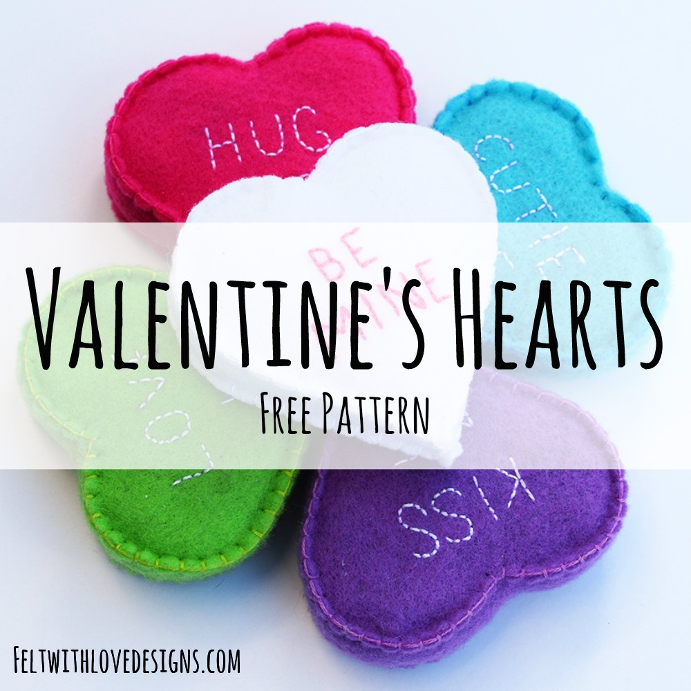 felt conversation hearts tutorial