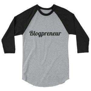 Blogpreneur 3/4 sleeve raglan shirt mockup 6581cd0c