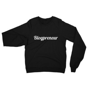 Unisex Blogpreneur Fleece Raglan Sweatshirt mockup ec8b7508
