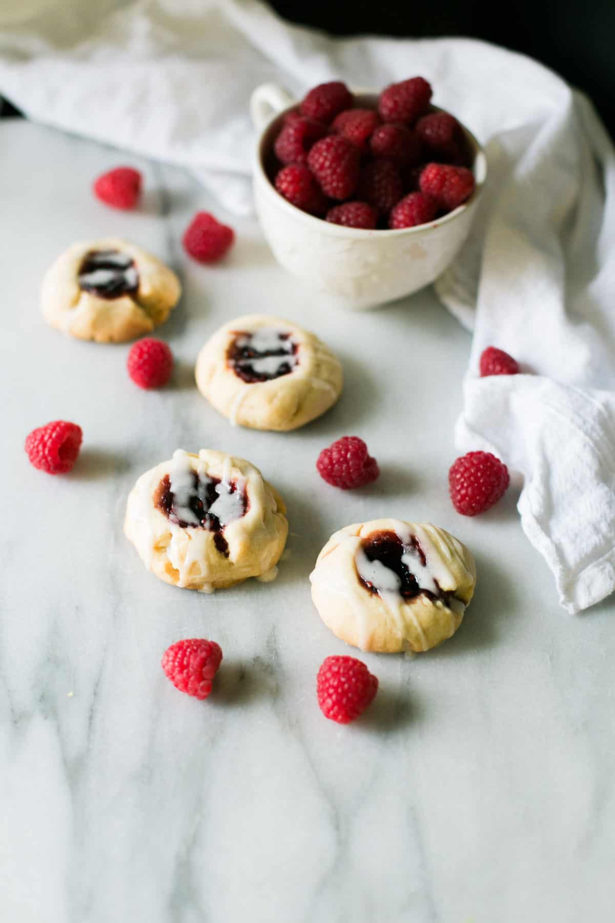 Raspberry Shortbread Tea Cookies