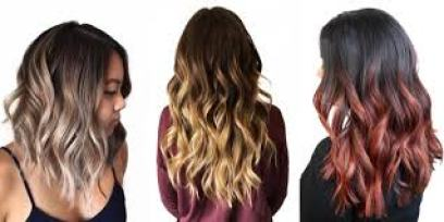 Ombre hair colors- latest Indian hair cut