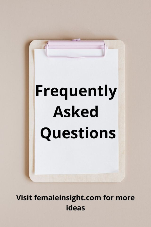 FAQ Femaleinsight Pinterest