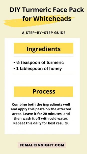 DIY Turmeric Face Pack for Whiteheads min 1