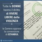 Violenza sulle donne: la Camera approva la Convenzione di Istanbul