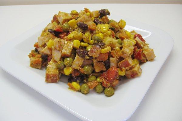 insalata di tacchino e verdure