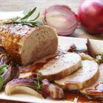 Secondi piatti di Natale: Arrosto di tacchino con le cipolle