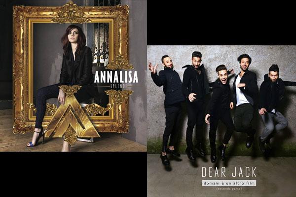 Sanremo 2015, Annalisa e Dear Jack in classifica degli album più venduti