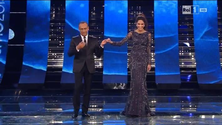Sanremo 2015: Rocio Munoz Morales e i suoi look nella terza serata