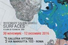 Mostre Roma: in mostra a Galleria Vittoria, Surfaces di Rosemary Salkin Sbiroli