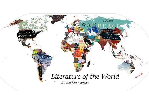 Risultati immagini per mappa del mondo con i libri