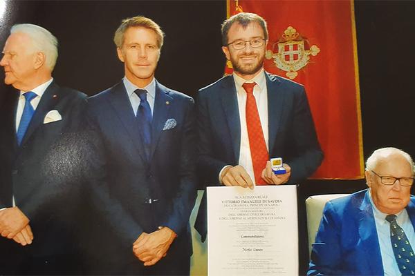 Mirko Cuneo a Nizza con Vittorio Emanuele per la Real Casa Savoia
