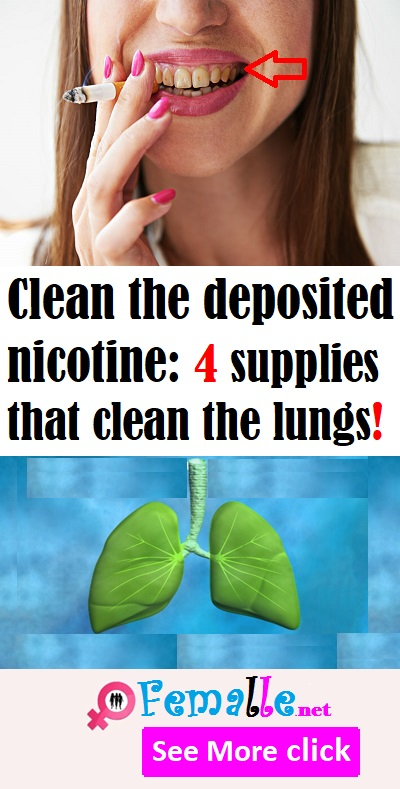 Clean the deposited nicotine: 4 supplies that clean the lungs!