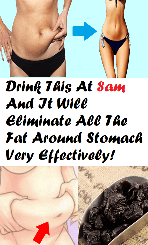 Drink This At 8am And It Will Eliminate All The Fat Around Stomach Very Effectively!