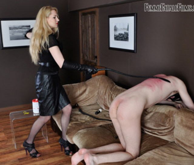 Severe Whipping By Mistress Eleise For His Negligence On Household Chores