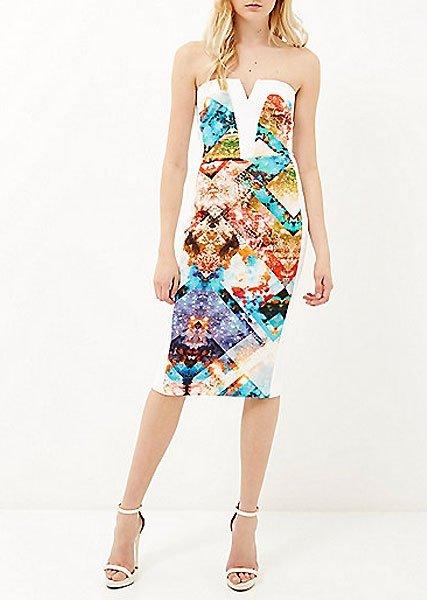 Kleider fr Hochzeitsgste Kleid mit grafischem Muster