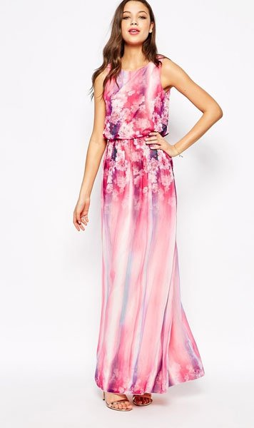 Kleider fr Hochzeitsgste Kleid in RosaTnen