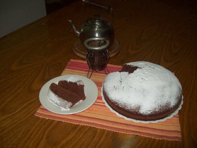 Torta de chocolate con crema