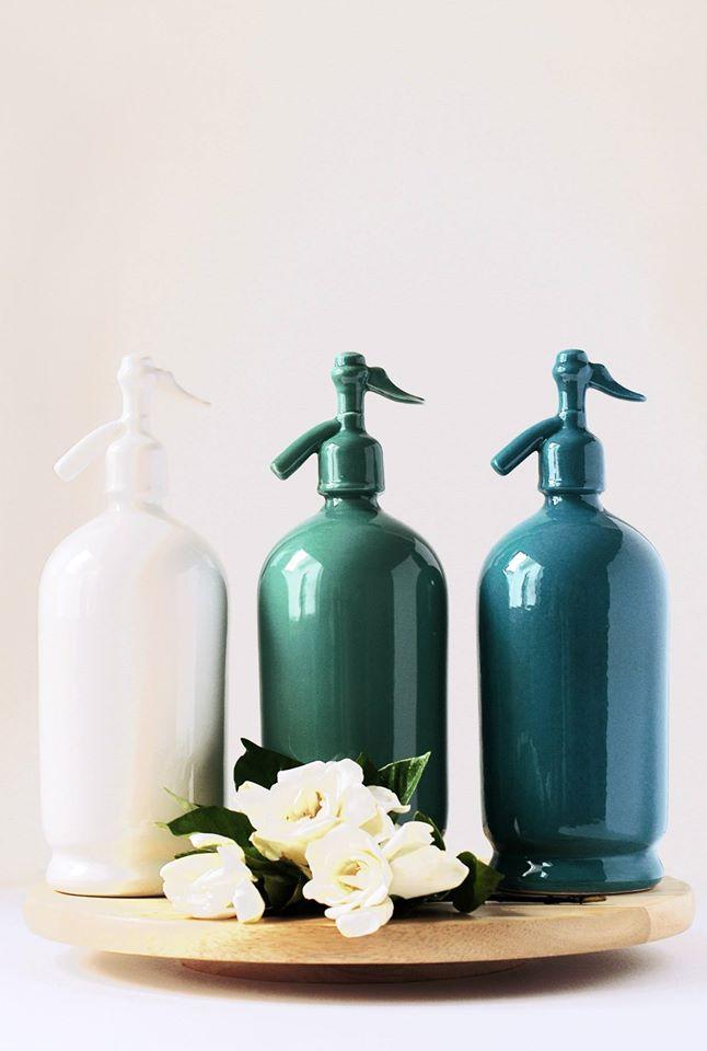 Sifón de cerámica: el nuevo producto de la línea vintage de Mil Gracias