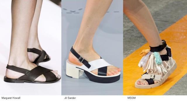 Sandalias en negro y blanco