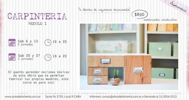 """Aires de Bohemia presenta el curso """"Carpintería doméstica"""""""