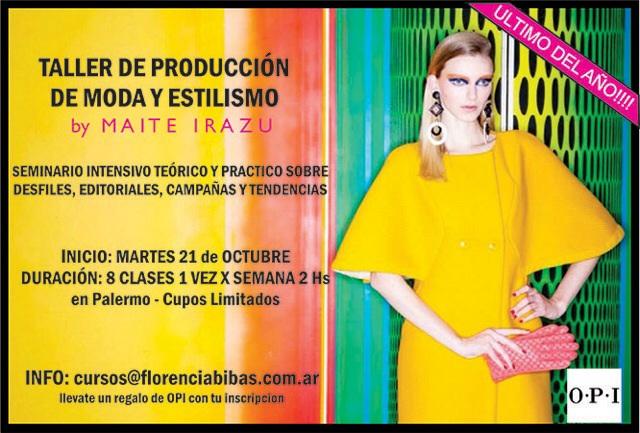 Taller de producción de Moda y Estilismo por Maite Irazu