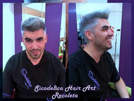 sicodelica hair art hombres