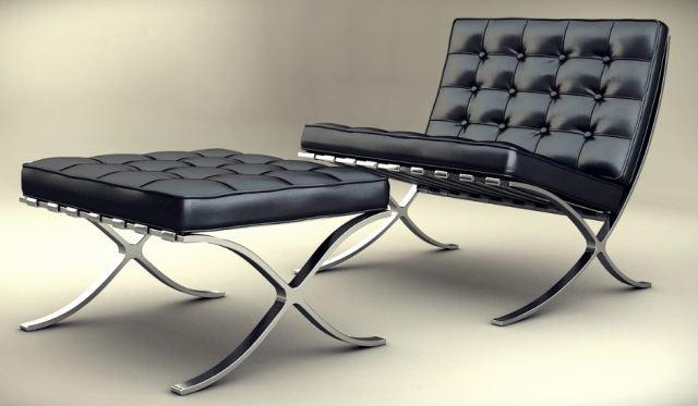 sillón barcelona, pura arquitectura minimalista