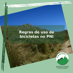 Regras de uso de bicicletas no PNI