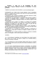 Decreto que dispõe sobre o Programa Municipal de Incentivo ao Montanhismo – Rio de Janeiro, RJ (Decreto nº 31906 de 12 de fevereiro de 2010)