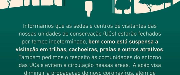 FEMERJ INFORMA: Fechamento por tempo indeterminado das sedes e dos centros de visitantes das unidades de conservação