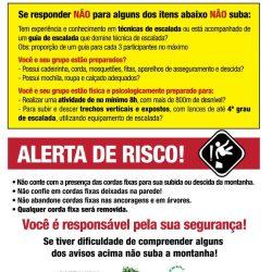 Alertas e Recomendações para a Via Normal do Cabeça de Peixe – PARNASO
