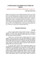 A introdução dos grampos de titânio no Brasil