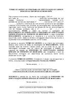 Termo de Adesão ao Programa de Certificação de Cursos Básicos de Esportes de Montanha