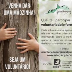 Seja um Voluntário do Parque Nacional da Tijuca