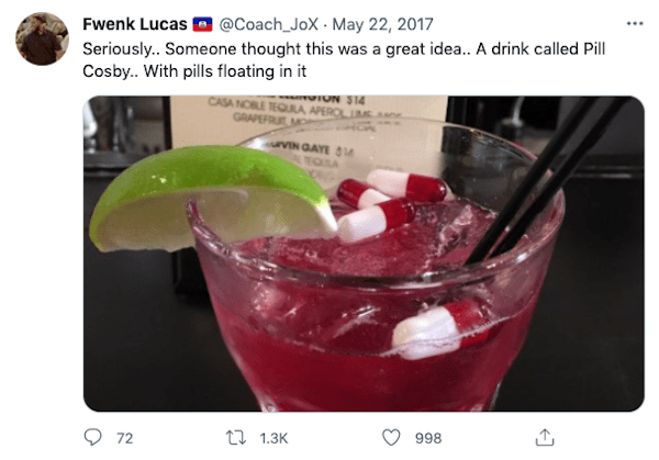 pill cosby drink