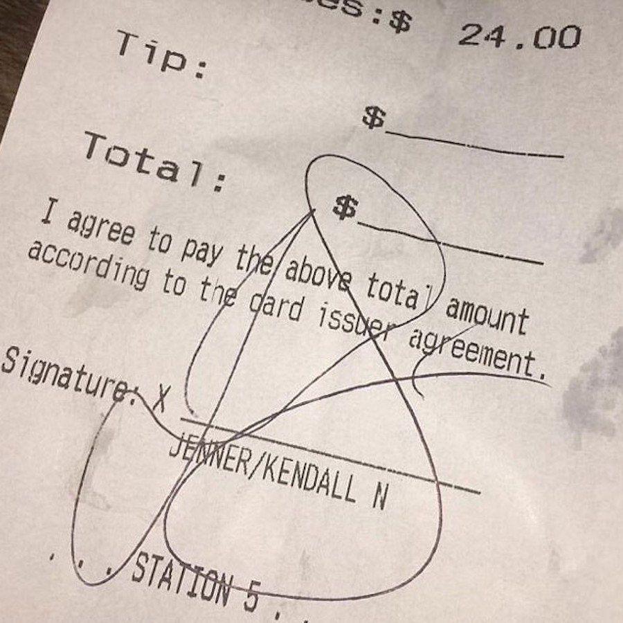 kendall jenner bartender tip