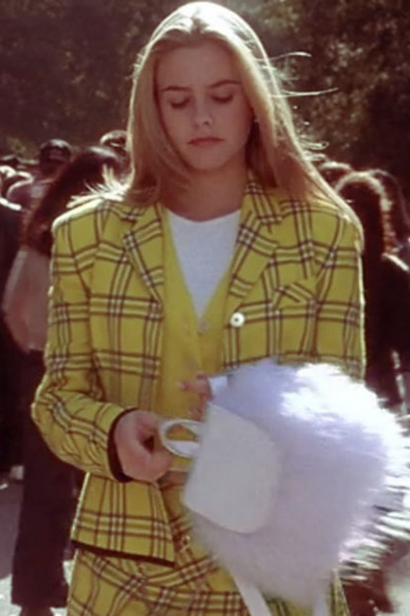 clueless cher horowitz yellow plaid matching outfit