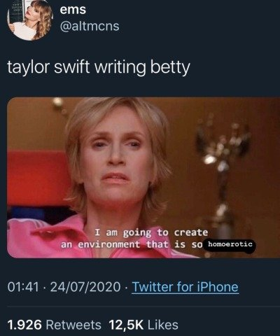 taylor swift betty queer gay memes