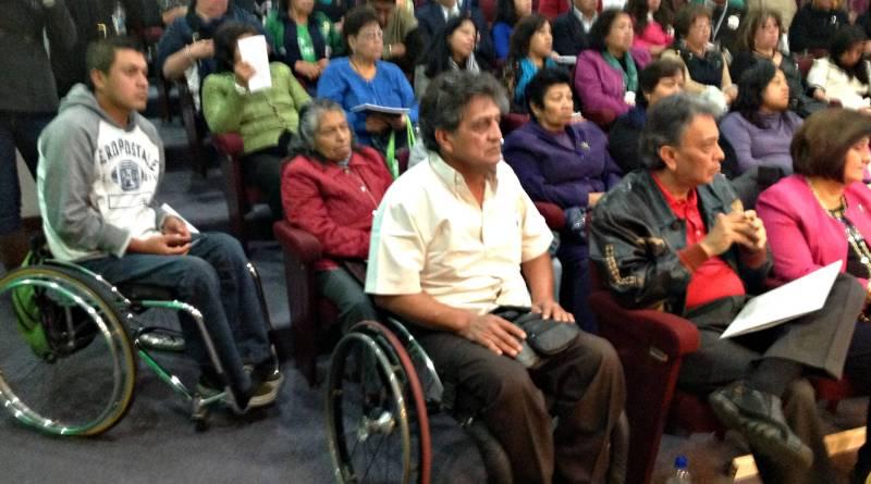 David Peña en el ISSSTE, conmemorando el Día de las Discapacidades