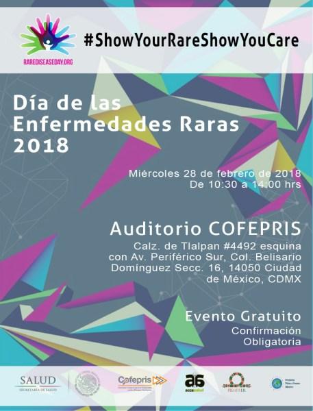 dimer 2018, Día de las Enfermedades Raras en COFEPRIS con FEMEXER
