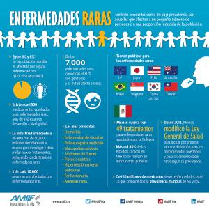 ¿Qué son las enfermedades raras? Infografía de AMIIF para responder.