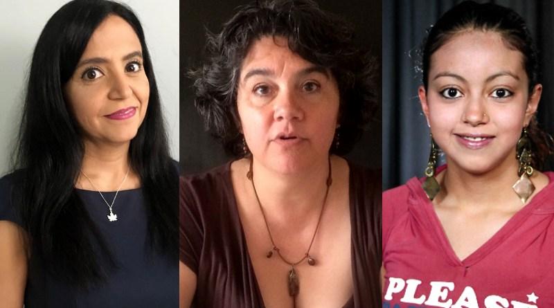 Alejandra Zamora, Celia Palacios y Paulina Peña