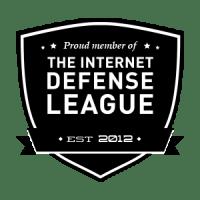 Escudo de acreditación de la Liga para la defensa de Internet